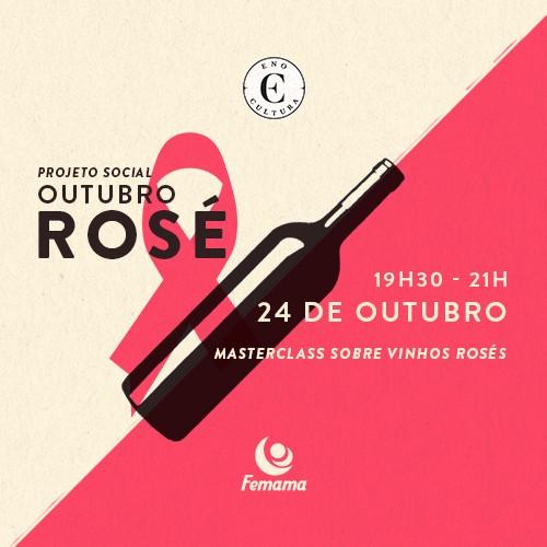 Eno Cultura promove Masterclass sobre Vinhos Rosés para apoiar o mês do Outubro Rosa